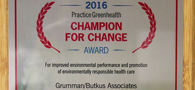 Practice Greenhealth honors G/BA as a Champion for Change