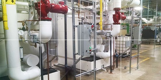 CERL Fire Suppression and Heating System Upgrades, Design